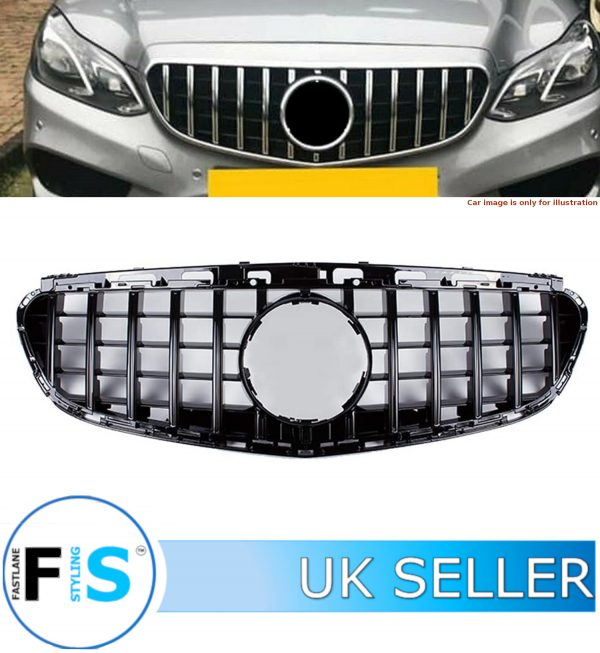 MERCEDES E CLASS W212 FRONT GRILLE PANAMERICANA GT STYLE