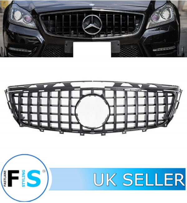 MERCEDES CLS CLASS C218 COUPE FRONT GRILLE PANAMERICANA GT STYLE