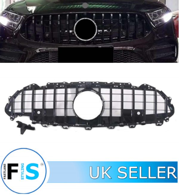 MERCEDES CLS CLASS C257 COUPE FRONT GRILLE PANAMERICANA GT STYLE