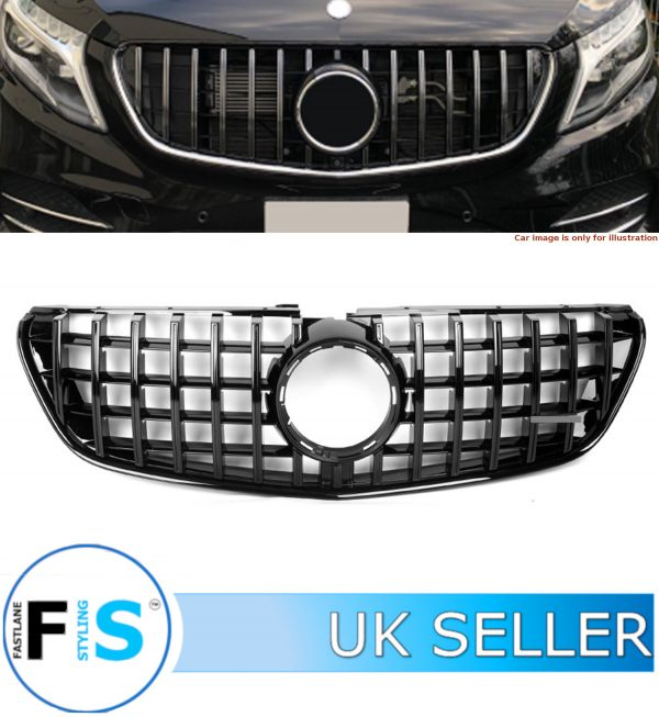 MERCEDES V CLASS W447 FRONT GRILLE PANAMERICANA GT STYLE