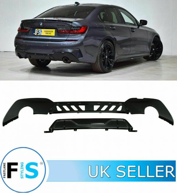 BMW 3 SERIES G20 KIT BLACK GRILL FRONT SPLITTER DIFFUSER SPOILER