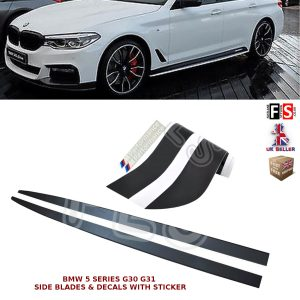 BMW 5 SERIES G30 G31 SIDE SKIRT EXTENSION BLADES & DECALS STICKER M PERFORMANCE
