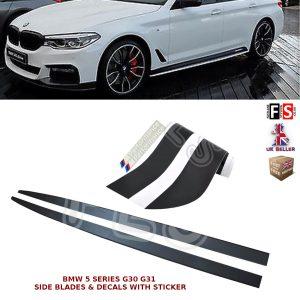 BMW 5 SERIES G30 G31 SIDE SKIRT EXTENSION BLADES & DECALS STICKER M PERFORMANCE