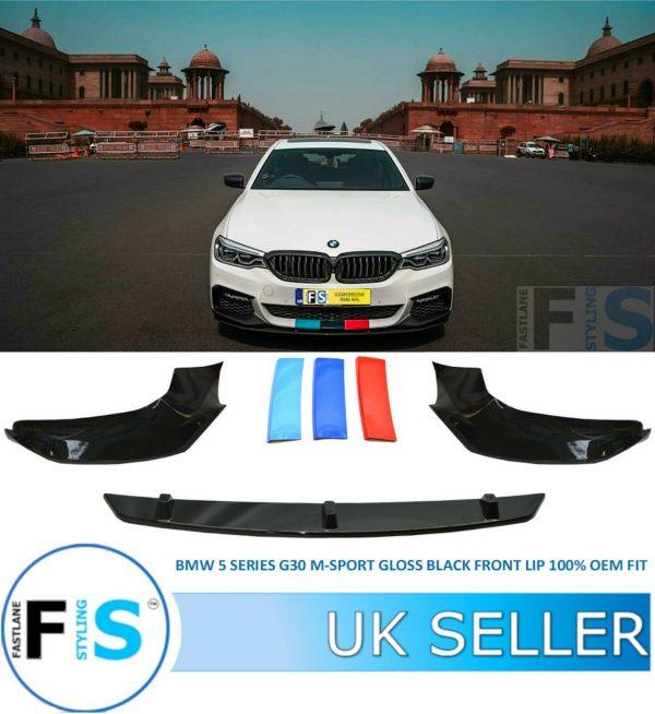 BMW 5 SERIES G30 G31 M SPORT 3 PIECE FRONT LIP SPLITTER