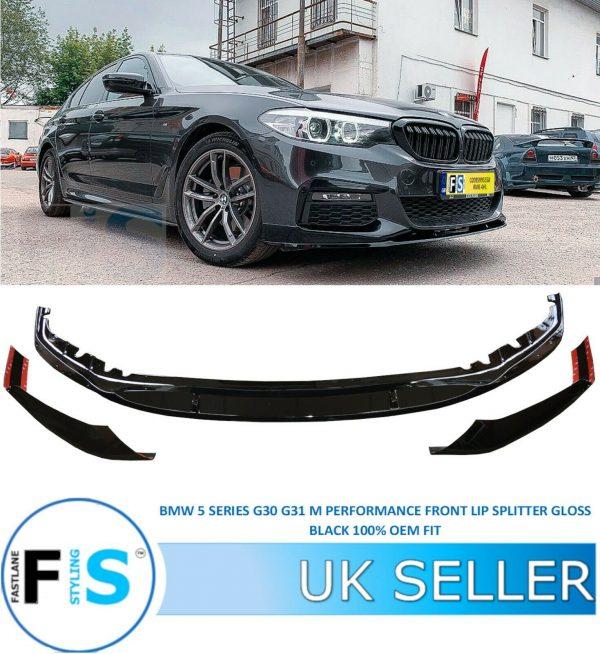 BMW 5 SERIES G30 G31 M TECH M SPORT FRONT LIP SPOILER SPLITTER