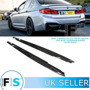 BMW 5 SERIES G30 G31 F90 M5 M PERFORMANCE SIDE SKIRT EXTENSION BLADES