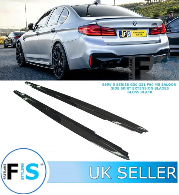 BMW 5 SERIES G30 G31 F90 M5 M PERFORMANCE SIDE SKIRT EXTENSION BLADES