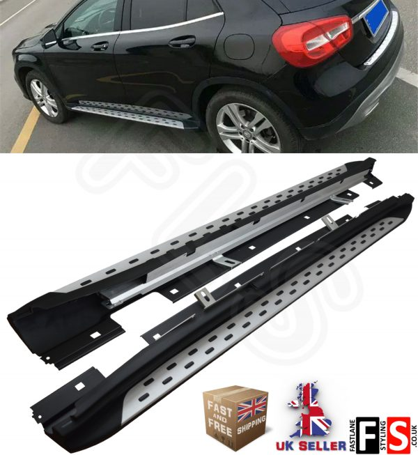MERCEDES BENZ GLA – CLASS 2014 UP OEM STYLE SIDE STEPS RUNNING BOARDS ALUMINIUM