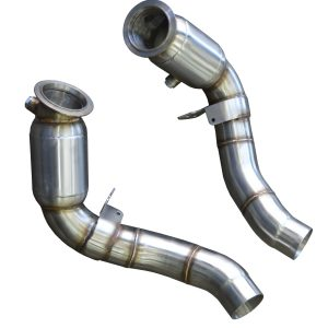 BMW M5 M6 F06 F10 F12 F13 STAINLESS STEEL EXHAUST DECAT DOWNPIPE WITH SPORT CAT