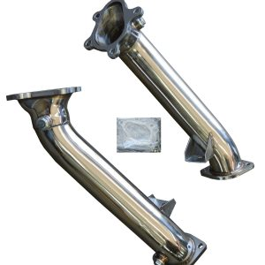 NISSAN GT-R R35 3.8 V6 DECAT STAINLESS STEEL RACE EXHAUST DOWNPIPES 76MM / 3″