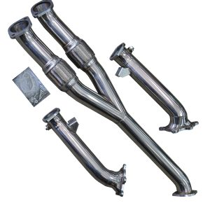 NISSAN GT-R R35 3.8 V6 STAINLESS STEEL RACE EXHAUST DOWNPIPES & Y-PIPE 76MM / 3″