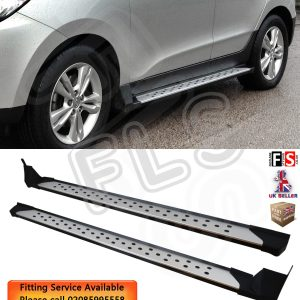 HYUNDAI IX35 SIDE STEPS RUNNING BOARDS 2010-2015 STEP OEM STYLE