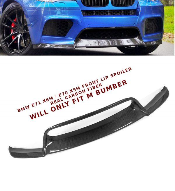 BMW E71 X6 M E70 X5 M BUMPER FRONT LIP SPOILER SPLITTER REAL CARBON FIBER 10-14