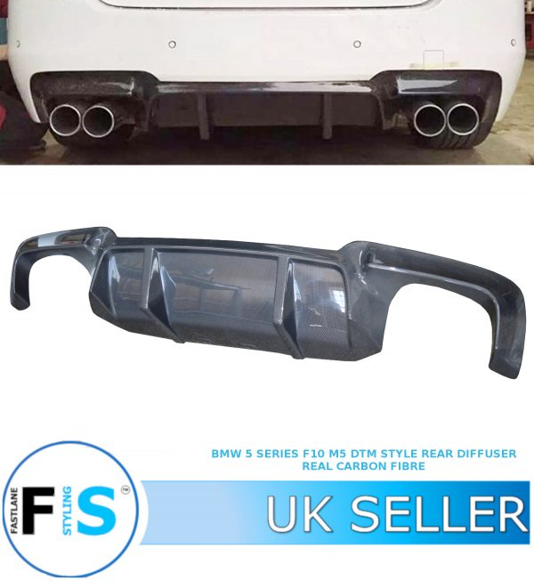 BMW 5 SERIES F10 F11 M5 LOOK QUAD REAR DIFFUSER DTM STYLE
