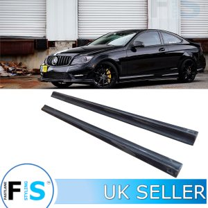MERCEDES C63 C204 W204 AMG CARBON FIBRE SIDE EXTENSION BLADES