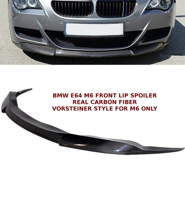 BMW 6 SERIES E64 M6 CONVERTIBLE FRONT LIP SPOILER SPLITTER CARBON FIBRE 05-10