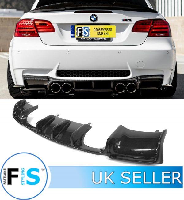 BMW E92 E93 M3 3D STYLE REAR DIFFUSER REAL CARBON FIBRE