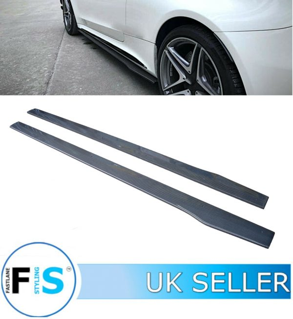 MERCEDES C63 C205 W205 AMG CARBON FIBRE SIDE SKIRTS