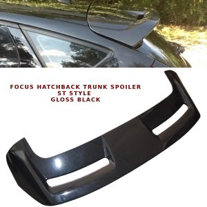 FORD FOCUS HATCHBACK REAR ROOF BOOT LIP SPOILER ST STYLE 12-13 GLOSS BLACK