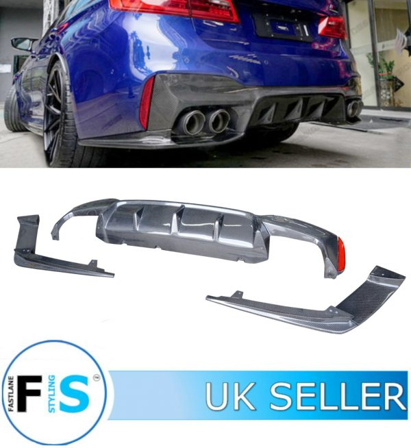 BMW 5 SERIES F90 M5 REAR DIFFUSER CARBON FIBRE 3PCs