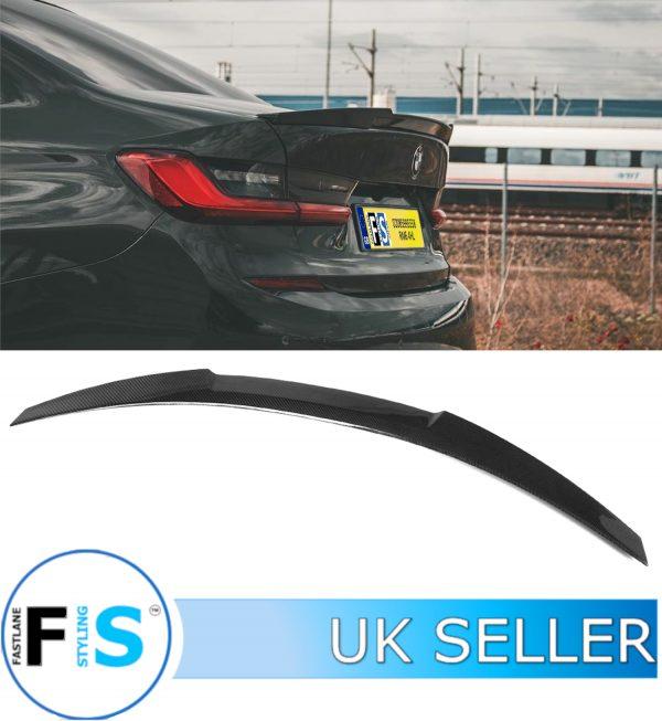 BMW 3 SERIES G20 G21 V STYLE SPORT CARBON FIBRE BOOT TRUNK SPOILER