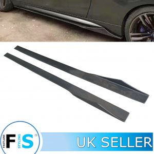 UNIVERSAL SIDE SKIRT EXTENSION BLADES SPLITTER SPOILER 215CM