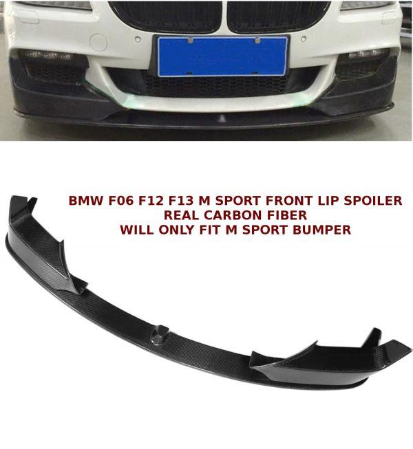 BMW 6 SERIES F06 F12 F13 FRONT LIP SPOILER SPLITTER CARBON FIBRE 12-17