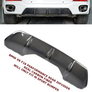 BMW X6 F16 4D M SPORT PERFORMANCE REAR BUMPER DIFFUSER SPLITTER CARBON FIBRE