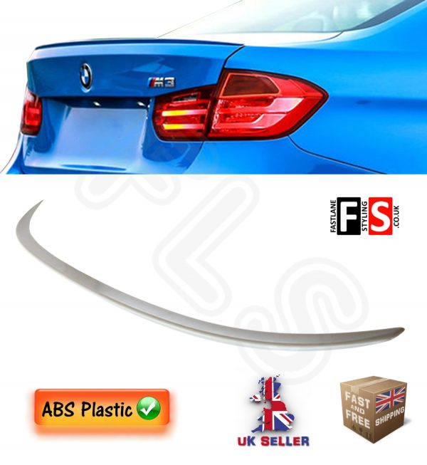 BMW 3 SERIES F30 F80 M3 M SPORT TYPE TRUNK BOOT SPOILER UNPAINTED 100% OEM FIT