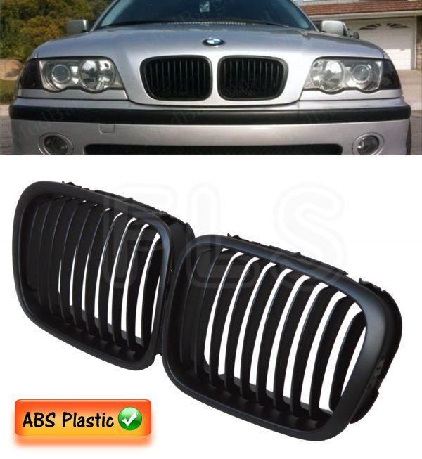 BMW E46 4 DOOR PRE-FACELIFT 98-01 3 SERIES BLACK KIDNEY GRILLE SALOON COMPACT