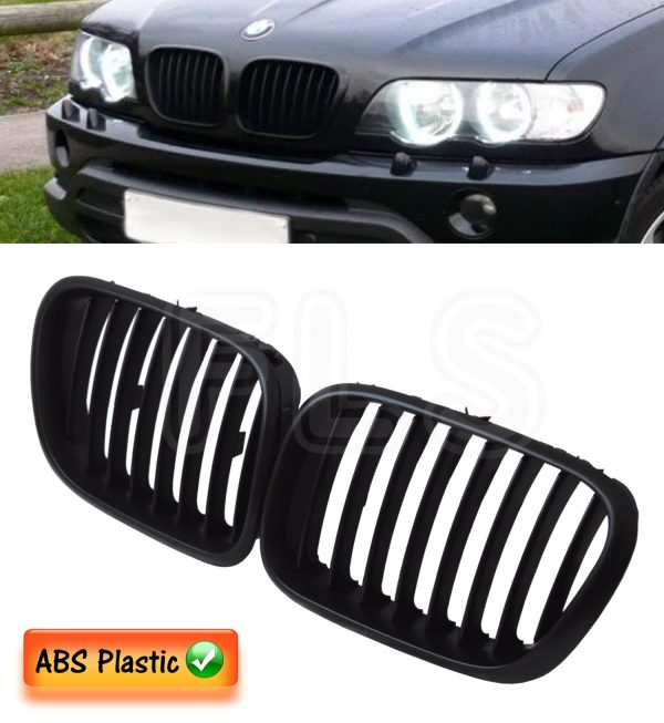 BMW E53 X5 2001-2003 PRE FACELIFT FRONT KIDNEY GRILLE -100% OEM FIT MATTE BLACK