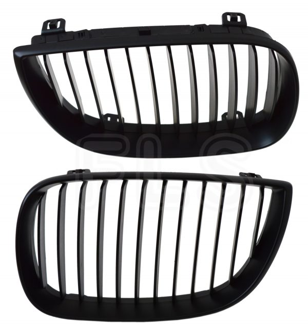 BMW E87 E81 1 SERIES 2004 – 2007 100% ORIGINAL FIT KIDNEY GRILLE – MATTE BLACK