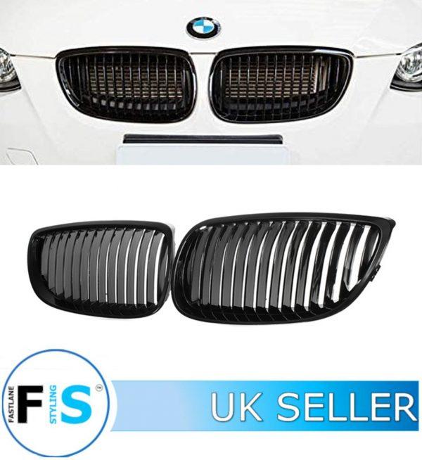 BMW 3 SERIES E92 E93 KIDNEY GRILLE GLOSS BLACK
