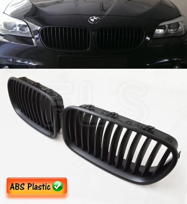 BMW 5 SERIES F10 F11 F18 2011-2016 FRONT KIDNEY GRILL MATTE BLACK M SPORT GRILLE