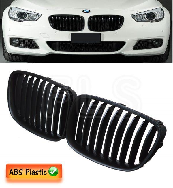 BMW 5 SERIES F07 GT GRAN TURISMO LCI KIDNEY GRILLES MATTE BLACK 2009 TO 2015