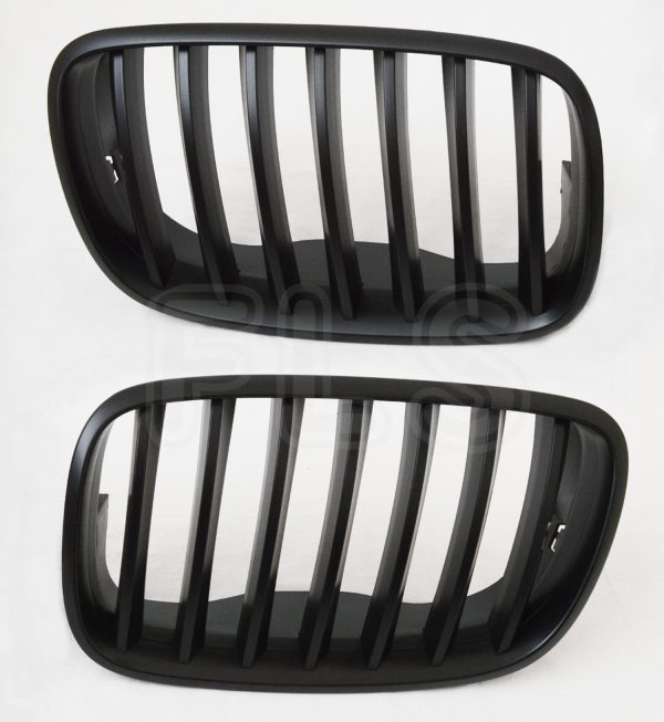 BMW X5 X6 E70 E71 E72 FRONT KIDNEY GRILLE MATTE BLACK 100% OEM FIT 07-14