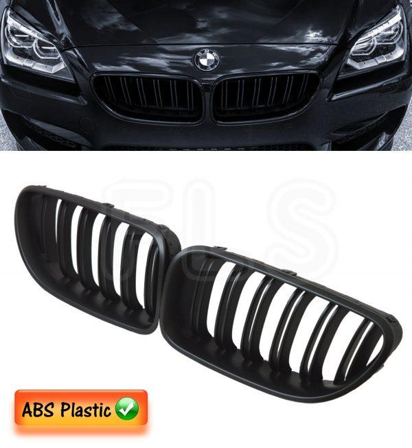 BMW 6 SERIES F06 F12 F13 2011-2016 FRONT KIDNEY GRILLE M6 STYLE-MATTE BLACK 100%