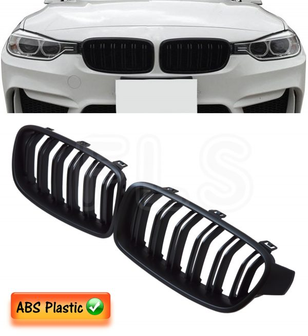 BMW 3 SERIES F30 F31 2011-2016 M3 STYLE FRONT KIDNEY GRILLE-MATTE BLACK 100% FIT