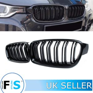BMW 3 SERIES F30 F31 F35 GLOSS BLACK FRONT KIDNEY GRILLE