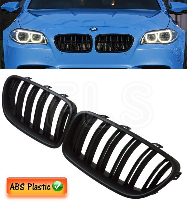 BMW F10 F11 5 SERIES 2010 – 2016 M5 STYLE FRONT KIDNEY GRILLE – MATTE BLACK