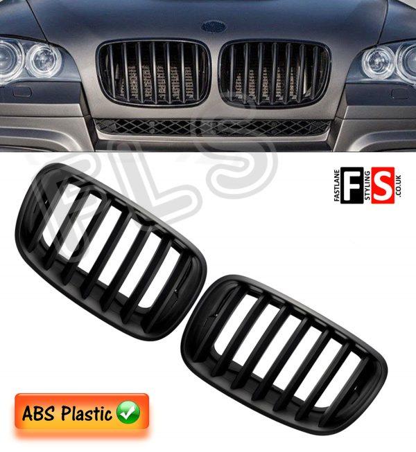 KIDNEY GRILLES FOR BMW E70/E71 X5/X6 LCI 2007-2013 FACELIFT-ABS-GLOSS BLACK