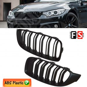 BMW 4 SERIES F32 F33 F36 M4 STYLE FRONT KIDNEY GRILLE OEM FIT 2014 + MATTE BLACK