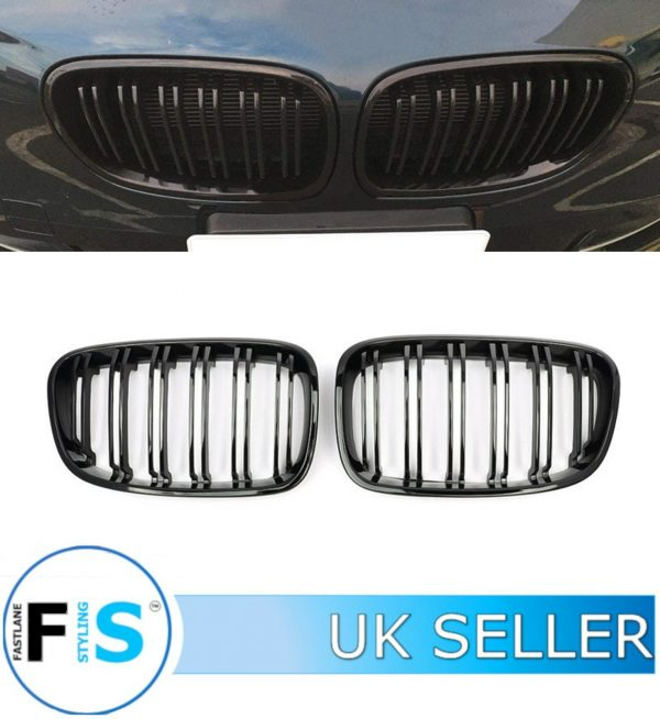BMW 1 SERIES F20 F21 FRONT KIDNEY GRILLE DOUBLE SLAT GLOSS