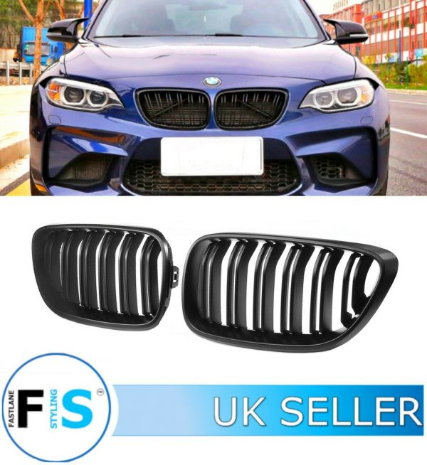 BMW 2 SERIES F22 F23 M2 STYLE FRONT KIDNEY GRILLES