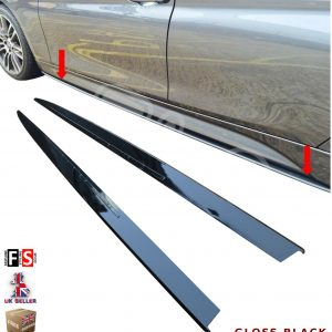 BMW 1 2 3 4 5 SERIES M SPORT SIDE SKIRT EXTENSION BLADES GLOSS BLACK