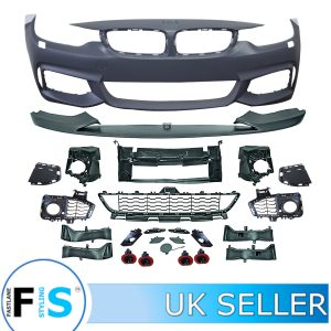 BMW 4 SERIES F32 F33 F36 PERFORMANCE FRONT BUMPER SPLITTER BODY KIT