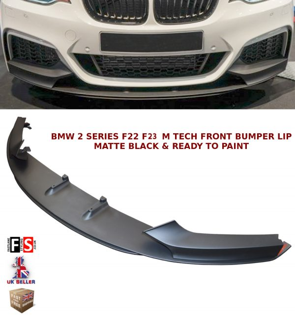BMW 2 SERIES F22 F23 FRONT DIFFUSER SPLITTER VALANCE LIP SPOILER MATTE BLACK 13+