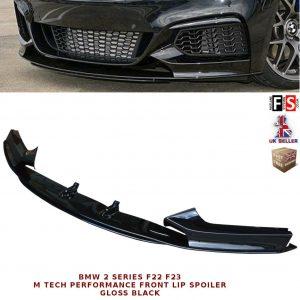 BMW 2 SERIES F22 F23 FRONT DIFFUSER SPLITTER VALANCE LIP SPOILER GLOSS BLACK 13+