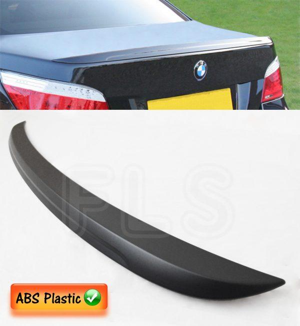 BMW 5 SERIES E60 TRUNK BOOT LID LIP SPOILER BLACK M PERFORMANCE 100% OEM FIT