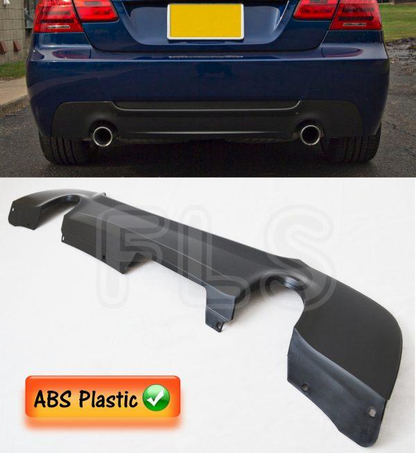 BMW 3 SERIES 05ON E92 E93 MSPORT 335 LOOK EXHAUST REAR DIFFUSER SPLITTER VALANCE